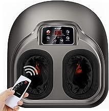 دستگاه ماساژ دهنده ماسک پا Shiatsu با کنترل از راه دور - درمان با کلاهبرداری عمیق با تسکین دهنده گرما و فشرده سازی مادون قرمز کاهش درد از فاسیای پس زمینه و پاهای خسته