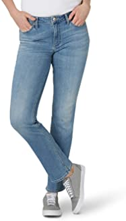 Women's Petite Regular Fit Straight Leg Jean