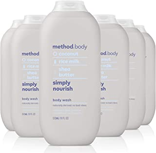 Method Body Wash, Simply Nourish, 18 Fluid Ounce,Pack of 6