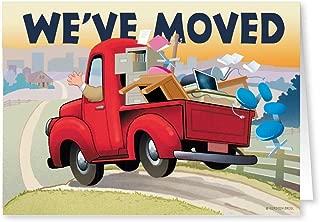We've Moved Change of Address Card Pack - 18 Cards & Envelopes - 5x7 Folded Cards