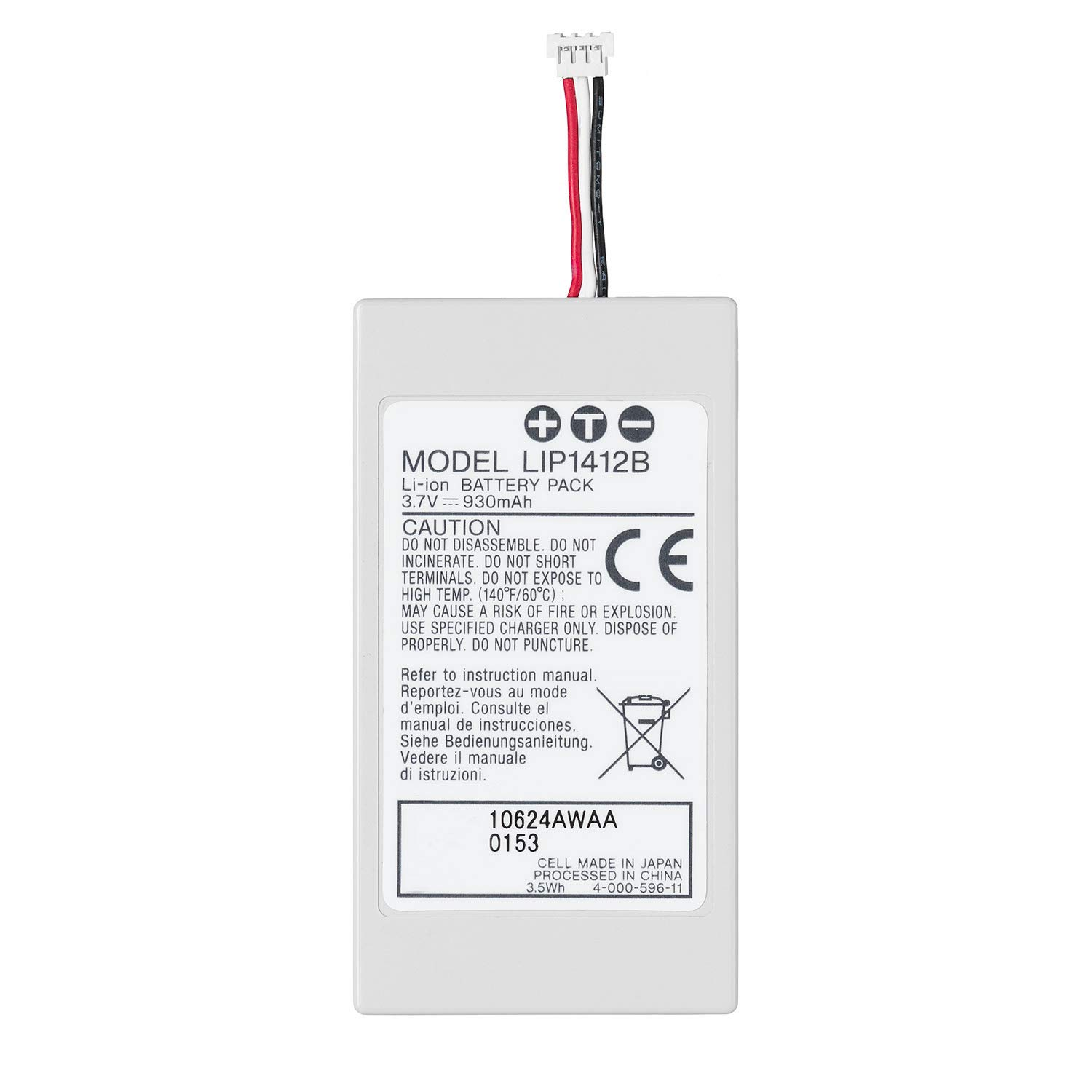 OSTENT 3.7V 930mAh Rechargeable Battery for Son Max 87% Bombing new work OFF Pack Replacement