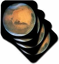 3dRose cst_80379_1 Mars كما هو موضح من أطباق هوبل الناعمة (مجموعة من 4)