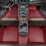 Alfombrillas de Coche para BMW 5 Series GT Sedan 4seats 2010 Antideslizantes Impermeable Rodeado Completo Protección para Todo Clima Revestimientos De Alfombra De Cuero Alfombrilla (Vino Rojo)