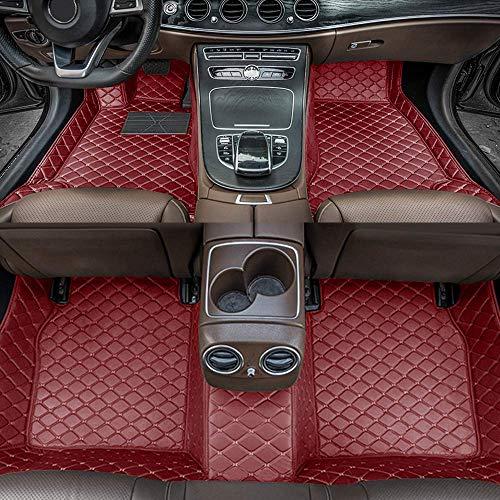 Alfombrillas de Coche para Audi A3 Hatchback 2004-2013 Antideslizantes Impermeable Rodeado Completo Protección para Todo Clima Revestimientos De Alfombra De Cuero Alfombrilla (Vino Rojo)
