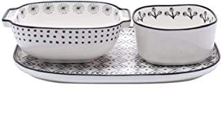 Baking Dish Porcelain Baking Pans, Ceramic Bakeware Set, Rectangular Baking Dish for Cooking, Kitchen, Cake Dinner, Banque...