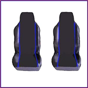 CITROEN  2005 on  PREMIUM FABRIC SEAT COVERS Blue PIPING 1 1