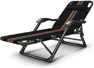 SEEKSUNG Mecedora,SjYsXm-sillones reclinables Silla de jardín Tumbona Silla Descanso para Comer Siesta Bed Respaldo Lazy Beach hogar Silla portátil Ajustable (Color: Silla + cojín) -Chair
