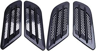 UBOOMS 2 Pair Car Side Air Flow Vent Hole Cover Fender Intake Grille Duct Decoration Sticker,Black and Carbon