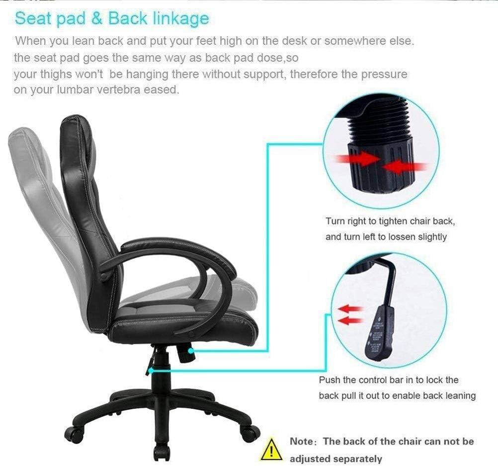 FTW Chaise De Jeu Chaise De Bureau À Dossier Haut Chaise De Bureau Chaise De Course Chaise Inclinable Chaise D'ordinateur Chaise Pivotante Chaise PC (Color : Red) Red