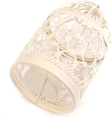 LAAT Bougeoir Lanternes Cage à Oiseaux Forme en Métal Tealight Créatif Bougeoir Romantique Lanterne Suspendue pour la Maison