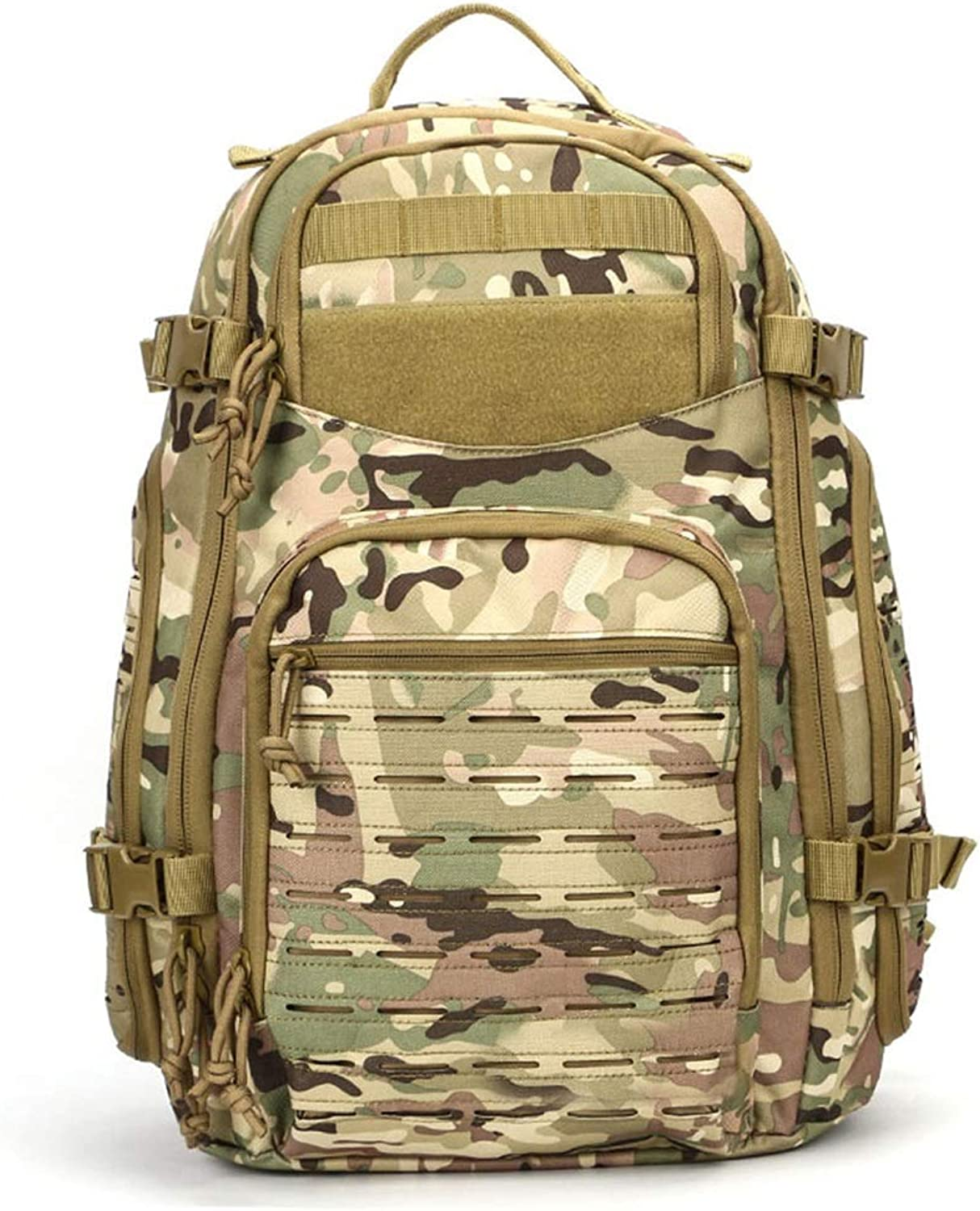 Tactical Backpack Hiking Camping Military Enthusiasts Backpack Large Capacity Outdoor Sports Backpack Men Riding Backpack (color   Camouflage)