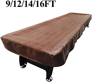 Lucky Monet 9/12/14/16ft Waterproof Shuffleboard Table Cover Heavy Duty PU Leather