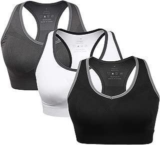 Women's Racerback Sports Bras Medium Impact Fitness Workout Running Bras,Pack of 2,3,4