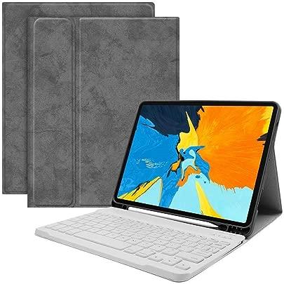 Renaisi Tastatur Kabellose Tastatur mit Schutzh lle for das 2018 IPad Pro 11 Geeignet f r alle Computer Color White Keyboard Gray case Schätzpreis : 23,06 €