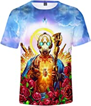 BJSDX Men's Borderlands 3 Game T Shirts, Unisex 3D Printed Tops Tees