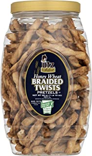 Utz Quality Foods Pretzel Barrels (Honey Wheat Braided Twists 26 oz., 2 Barrels)
