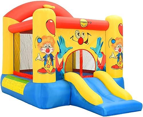 VidaXL Happy Hop Chateau Gonflable avec Toboggan 330x230x230 cm Aire de Jeux pour Enfant Jeu de Plein Air Jardin Cour Extérieur Parc de Jeux PVC