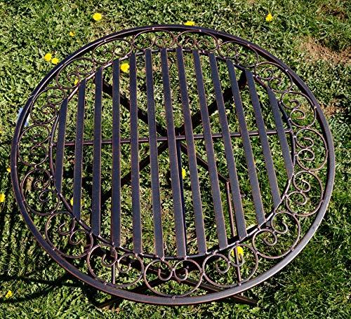 Metall Sitzgruppe Eliza Gartentisch mit 2 Stühlen klappbar Bild 3*