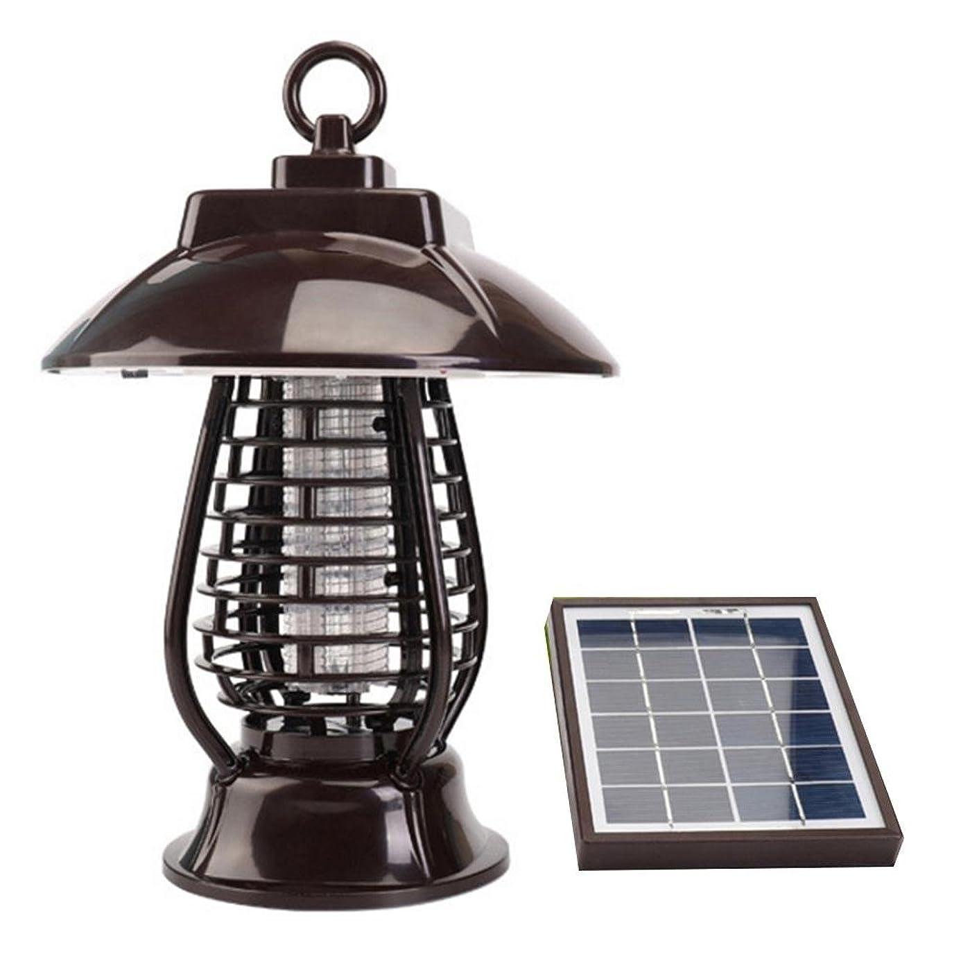 競争偽装する悪魔カのキラーランプ 屋外の蚊キラー 太陽エネルギー USB充電 LEDランプビーズ 防風 360度防水 自動充電 自動点灯 照明 殺害蚊 昆虫殺害 ガーデン用