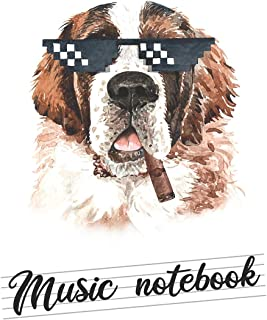 Music notebook: wide staff manuscript paper   8.5x11   120 pages   8 staves per page   easy to write on   hilarious st ber...