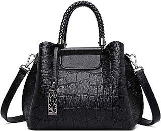BUKESIYI Damen Tasche Umhängetasche Handtasche Frauen Klein Schultertasche Weekender Lack PU Leder CCDE77128