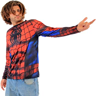 Spider-Man Sublimated Adult Long Sleeve Costume T-Shirt