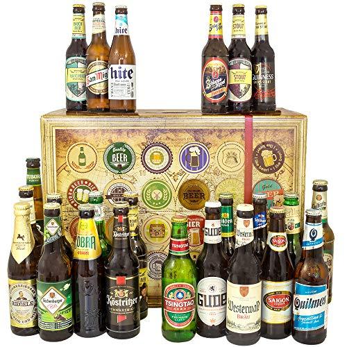 Biere aus der Welt 24x / 24er Bier Geschenkset/Geburtstag Geschenke Freund