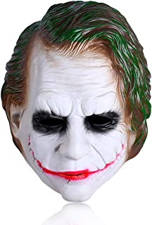 Joker Mask Batman Clown Costume Cosplay Movie Adult Party Masquerade Rubber Latex Scary Clown Masks for Halloween(Joker)