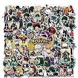 My Hero Academia Sticker 100pcs Cool Anime Pegatinas para computadoras portátiles monopatín pegatinas para niños adolescentes adultos portátil monopatín guitarra equipaje, pegatinas de vinilo paquetes
