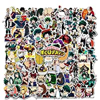 All the my hero academia stickers made with high quality vinyl, 100% waterproof and sun protection. Never faded out. Easy to stick repeatedly or peel it off and there won't be any residues. 100 pcs cartoon anime stickers not repeat and pattern as pic...