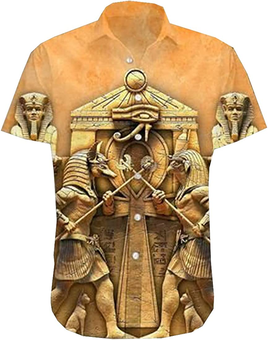 Native America Hawaiian Shirts for Men - Viking Button Down Mens Hawaiian Shirts Short Sleeve Series 151