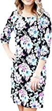 Mary Square Black Floral Shift Dress