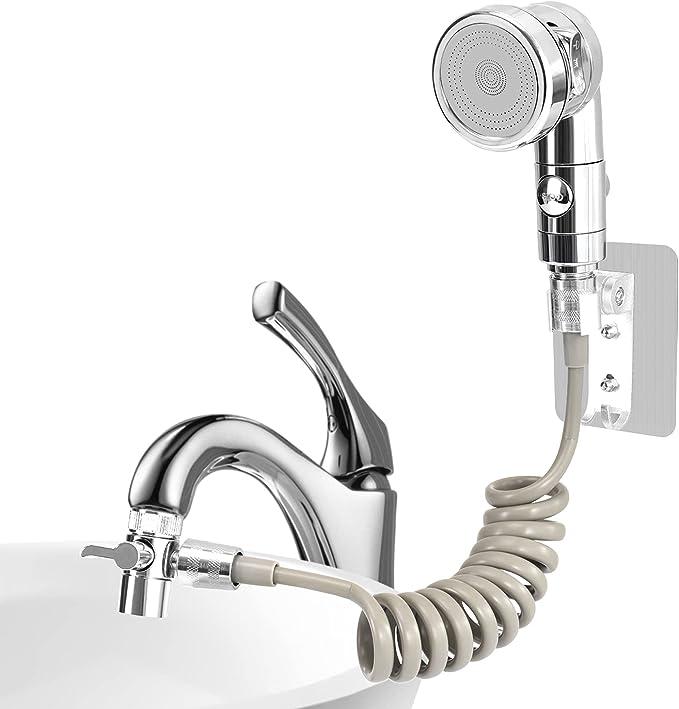 73 opinioni per Set soffione doccia per lavabo, doccetta bagno, tubo telescopico, perfetto per