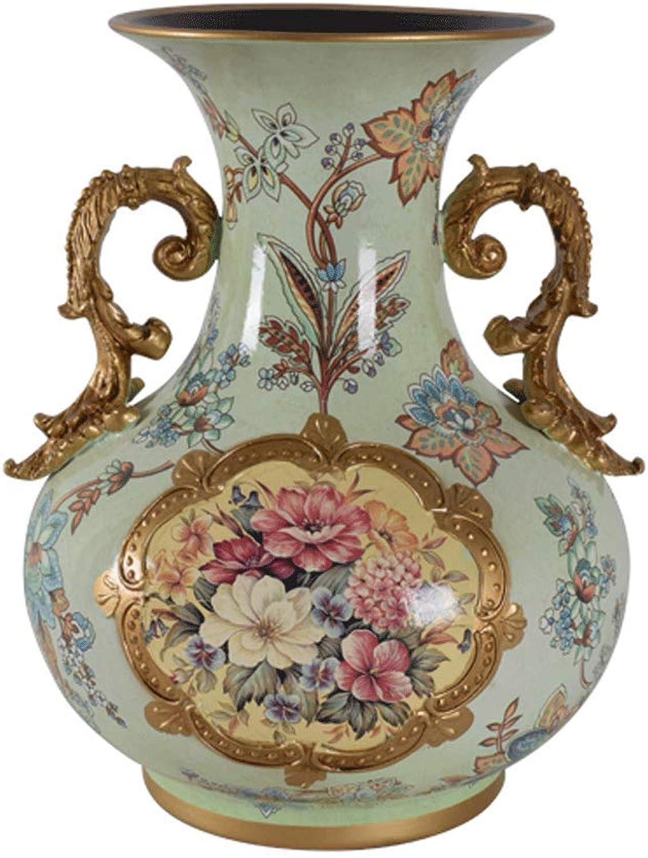 Vases LXF en céramique européenne Home Salon Porche Décoration TV Cabinet Wine Cabinet Décoration Ensemble (Couleur   E)
