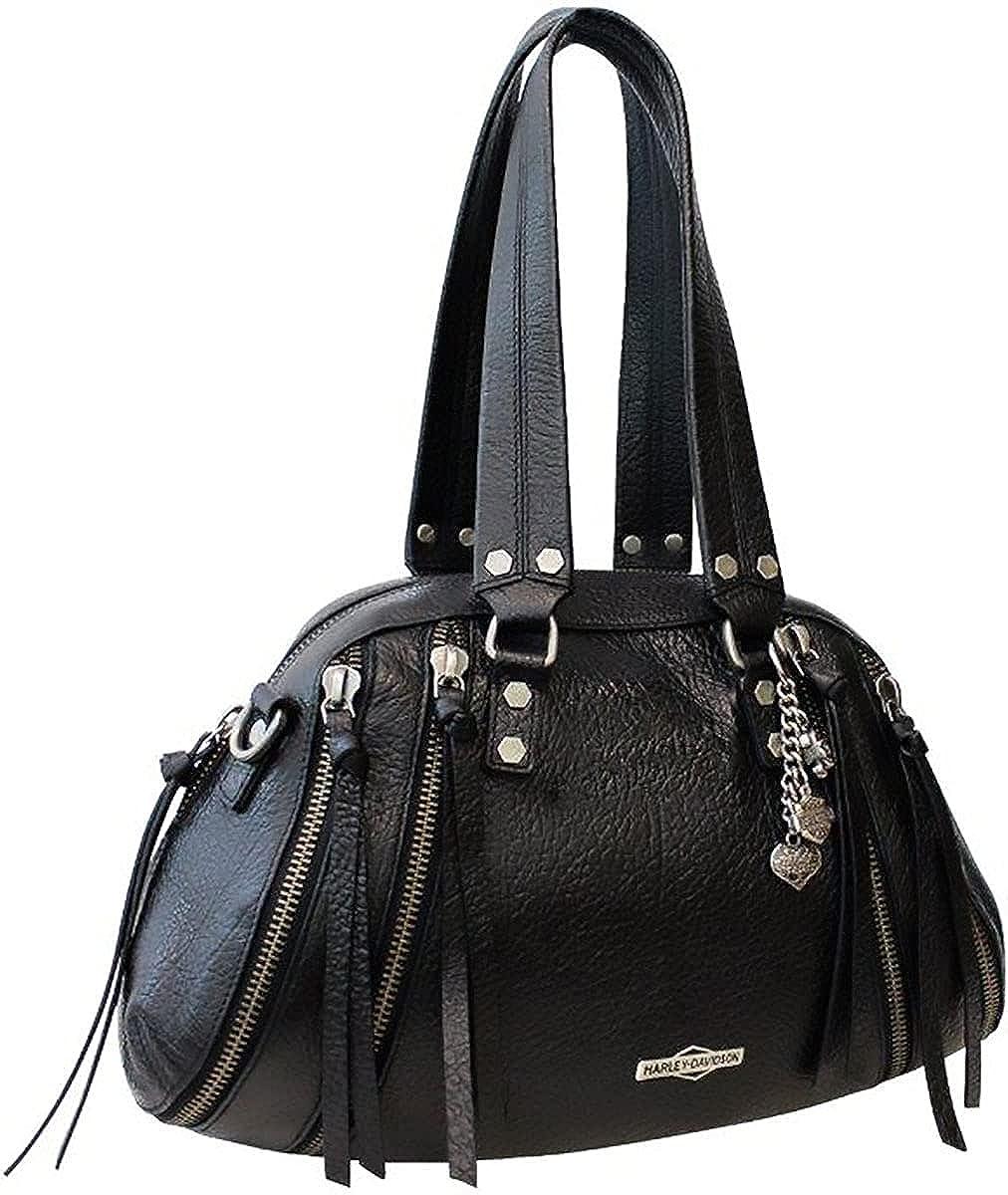 Harley-Davidson Sales Womens Zip It is very popular It Satchel Leather ZP2204L-BK Black