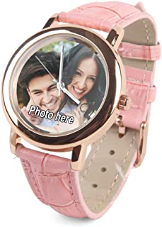 Custom Personalized Womens Photo Watches for Valentine's Day - Rose Gold Watch