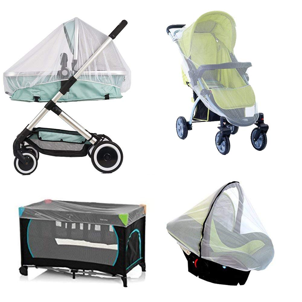 Diagtree 2 Pack Baby Mosquito Net for Strollers, Pack'n'Plays, Car Seat & Bassinets, Playpens & Cribs (2 Pack) (L)