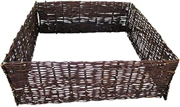 Master Garden Products Deep Woven Willow Raised Bed, 48 x 48 x 12-Inch
