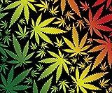 Weed Pot Cannabis Leaf Fleece Throw Blanket 50' x 60'