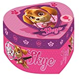 Kids Euroswan - Paw Patrol PW16057 Joyero forma de corazon con espejo Skye