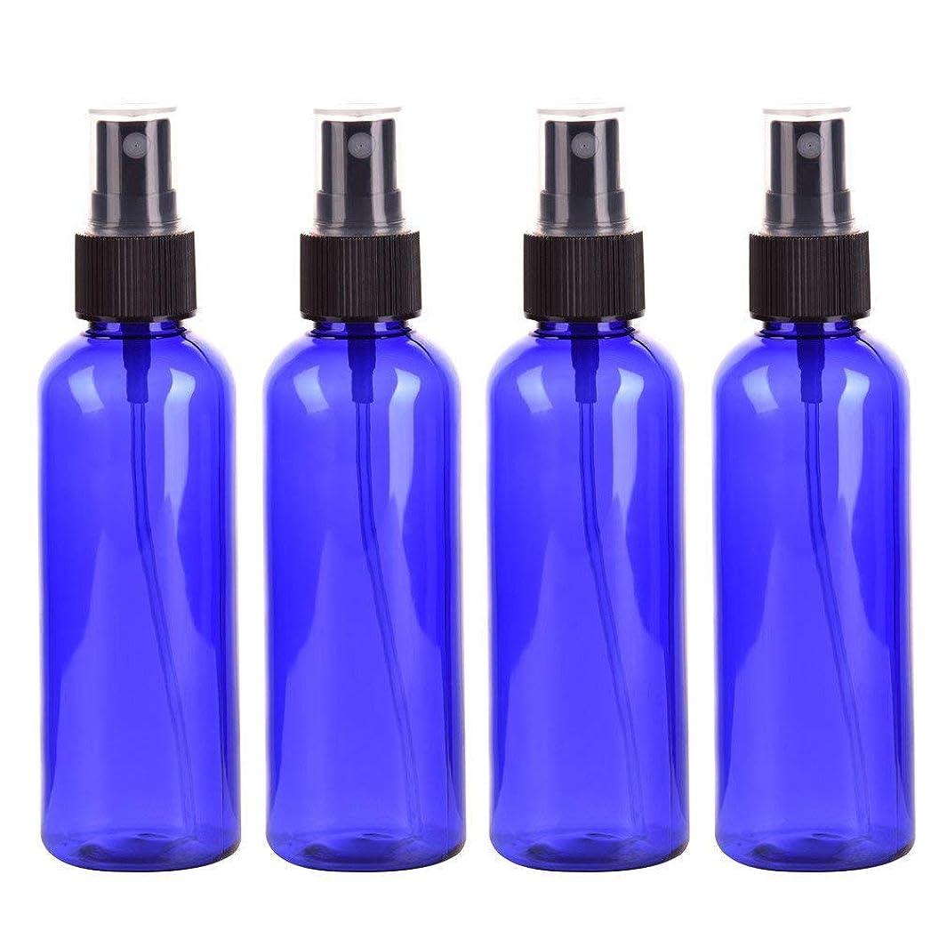 スプレーボトル 化粧品ボトル 霧吹き 漏れ防止 化 PETボトル プラスチック 100ML 4本