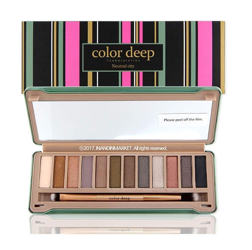 性別刈る産地Color Deep 12Color Eyeshadow Paletteアイシャドウパレット#Neutral City(並行輸入品)