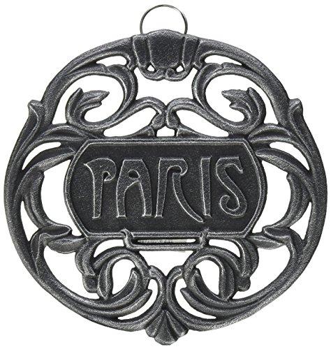 Old Dutch Paris Trivet, Antique Pewter