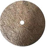 ZJONE Lot de 10 tapis de coco ronds pour plantes 20/30/40 cm Disque de paillage 100 % naturel Protection hivernale pour plantes en pot (40 cm)