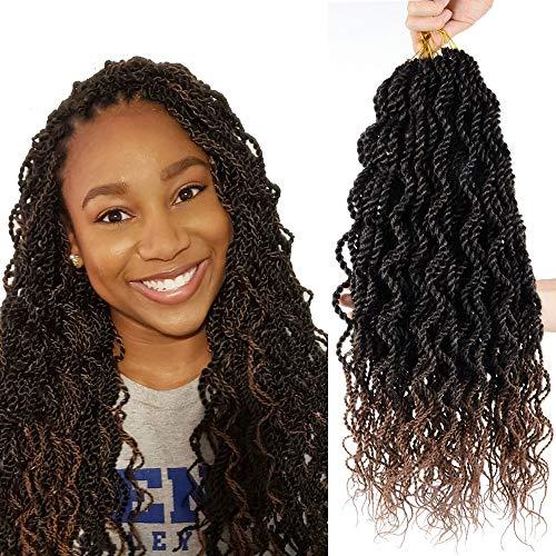 Flyteng Senegalese Twist Crochet Braids Crochet Hair For Black Women 8 Packs 15 Stands/Pack Wavy crochet twist hair senegalese twists