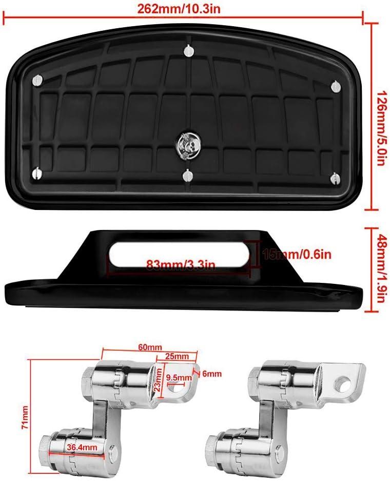 BarBaren Passenger Floorboards Motorcycle FootPegs Mount Bracket Kits Compatible with Harley XL883 XL1200 X48 72-Skeleton Middle Finger