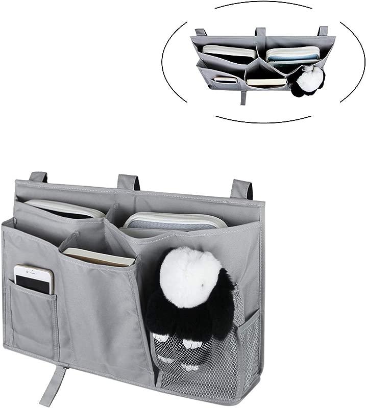 SunTrade Bedside Caddy 8 Pockets Hanging Organizer Storage Bag For Bunk Hospital Beds Dorm Rooms Bed Rails