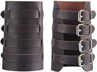 Leather Gauntlet Wristband Medieval Archery Bracers Viking Wrist Guard Punk Jewelry Renaissance Costume