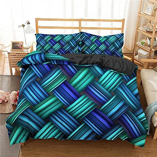Juego de edredón tamaño king, juego de cama de tejido 3D, textiles para el hogar de microfibra, juego de funda nórdica doble, funda de almohada, ropa de cama, decoración de dormitorio, funda de