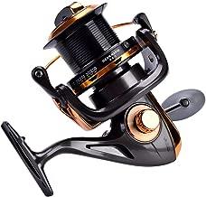 Carrete de Spinning 12 + 1BB Carretes de Pesca de Alta Velocidad de Fundición Metálica para Pesca Agua Salada de Agua Dulce